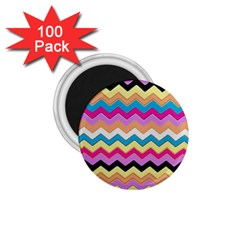 Chevrons Pattern Art Background 1 75  Magnets (100 Pack)