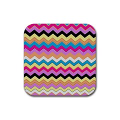 Chevrons Pattern Art Background Rubber Square Coaster (4 Pack)