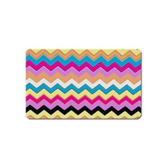 Chevrons Pattern Art Background Magnet (Name Card)