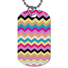 Chevrons Pattern Art Background Dog Tag (one Side)