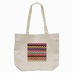Chevrons Pattern Art Background Tote Bag (cream)