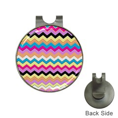 Chevrons Pattern Art Background Hat Clips With Golf Markers