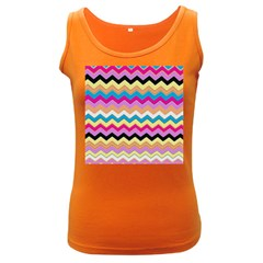 Chevrons Pattern Art Background Women s Dark Tank Top