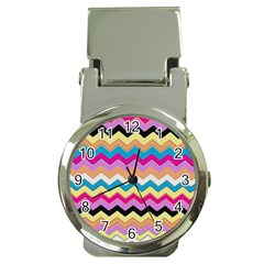 Chevrons Pattern Art Background Money Clip Watches