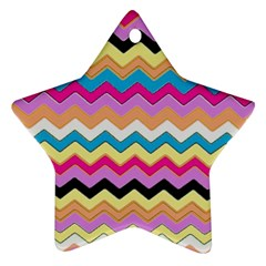 Chevrons Pattern Art Background Star Ornament (Two Sides)