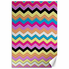 Chevrons Pattern Art Background Canvas 12  X 18