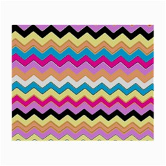 Chevrons Pattern Art Background Small Glasses Cloth (2 Side)