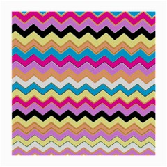 Chevrons Pattern Art Background Medium Glasses Cloth