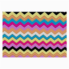Chevrons Pattern Art Background Large Glasses Cloth (2 Side)