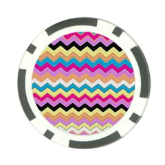 Chevrons Pattern Art Background Poker Chip Card Guard