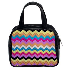 Chevrons Pattern Art Background Classic Handbags (2 Sides)