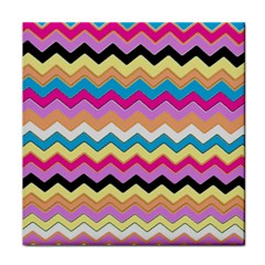 Chevrons Pattern Art Background Face Towel