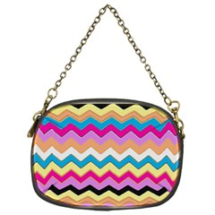 Chevrons Pattern Art Background Chain Purses (one Side)