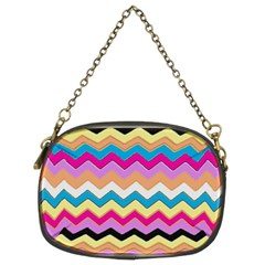 Chevrons Pattern Art Background Chain Purses (two Sides)