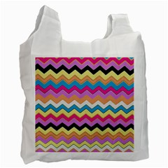Chevrons Pattern Art Background Recycle Bag (two Side)