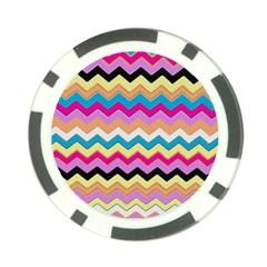 Chevrons Pattern Art Background Poker Chip Card Guard (10 Pack)
