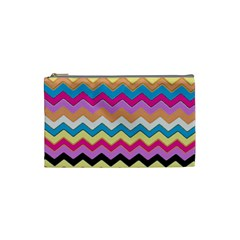 Chevrons Pattern Art Background Cosmetic Bag (small)