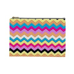 Chevrons Pattern Art Background Cosmetic Bag (large)