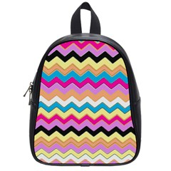 Chevrons Pattern Art Background School Bags (small)