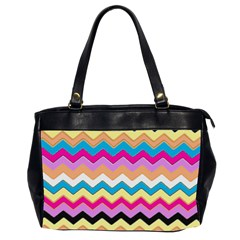 Chevrons Pattern Art Background Office Handbags (2 Sides)