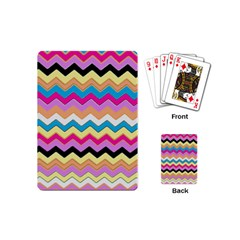 Chevrons Pattern Art Background Playing Cards (mini)