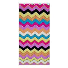 Chevrons Pattern Art Background Shower Curtain 36  X 72  (stall)