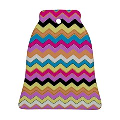 Chevrons Pattern Art Background Bell Ornament (two Sides)
