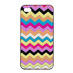 Chevrons Pattern Art Background Apple iPhone 4/4s Seamless Case (Black)
