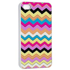 Chevrons Pattern Art Background Apple Iphone 4/4s Seamless Case (white)
