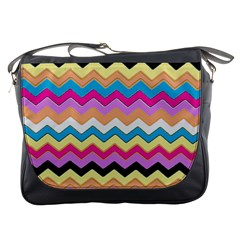 Chevrons Pattern Art Background Messenger Bags