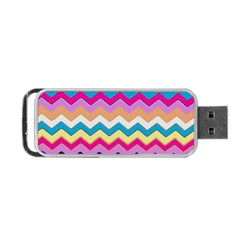 Chevrons Pattern Art Background Portable Usb Flash (one Side)