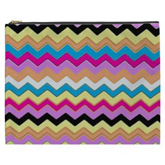 Chevrons Pattern Art Background Cosmetic Bag (xxxl)