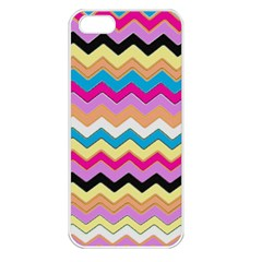 Chevrons Pattern Art Background Apple Iphone 5 Seamless Case (white)