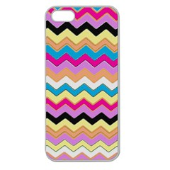 Chevrons Pattern Art Background Apple Seamless iPhone 5 Case (Clear)