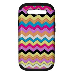 Chevrons Pattern Art Background Samsung Galaxy S Iii Hardshell Case (pc+silicone)