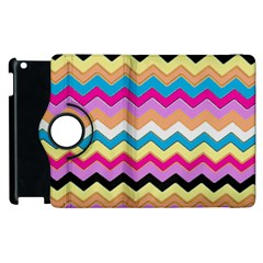 Chevrons Pattern Art Background Apple Ipad 3/4 Flip 360 Case