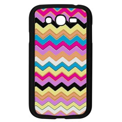 Chevrons Pattern Art Background Samsung Galaxy Grand Duos I9082 Case (black)