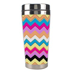 Chevrons Pattern Art Background Stainless Steel Travel Tumblers