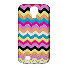 Chevrons Pattern Art Background Samsung Galaxy S4 Classic Hardshell Case (pc+silicone)