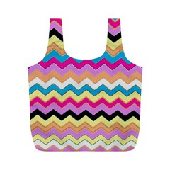 Chevrons Pattern Art Background Full Print Recycle Bags (m)