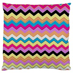 Chevrons Pattern Art Background Large Flano Cushion Case (two Sides)