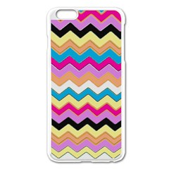 Chevrons Pattern Art Background Apple Iphone 6 Plus/6s Plus Enamel White Case