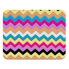 Chevrons Pattern Art Background Double Sided Flano Blanket (large)