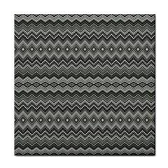 Greyscale Zig Zag Tile Coasters