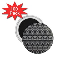 Greyscale Zig Zag 1 75  Magnets (100 Pack)