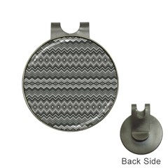 Greyscale Zig Zag Hat Clips With Golf Markers