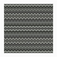 Greyscale Zig Zag Medium Glasses Cloth
