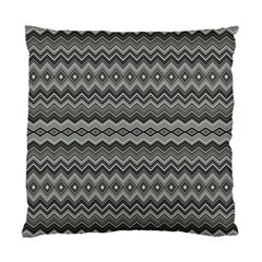 Greyscale Zig Zag Standard Cushion Case (two Sides)