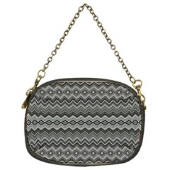 Greyscale Zig Zag Chain Purses (two Sides)