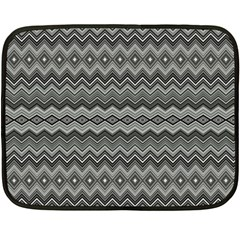 Greyscale Zig Zag Double Sided Fleece Blanket (mini)